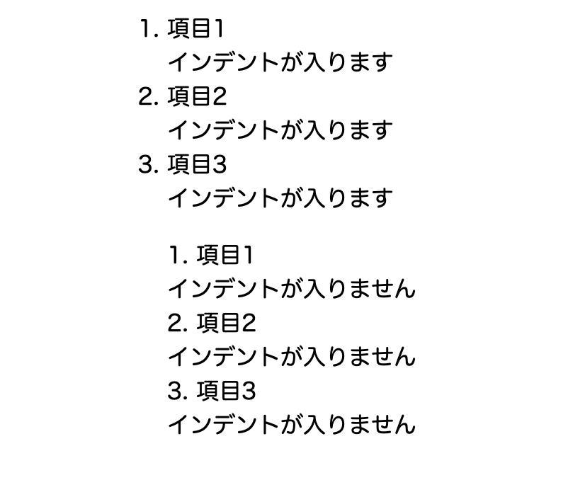 list-style-positionで指定できる値