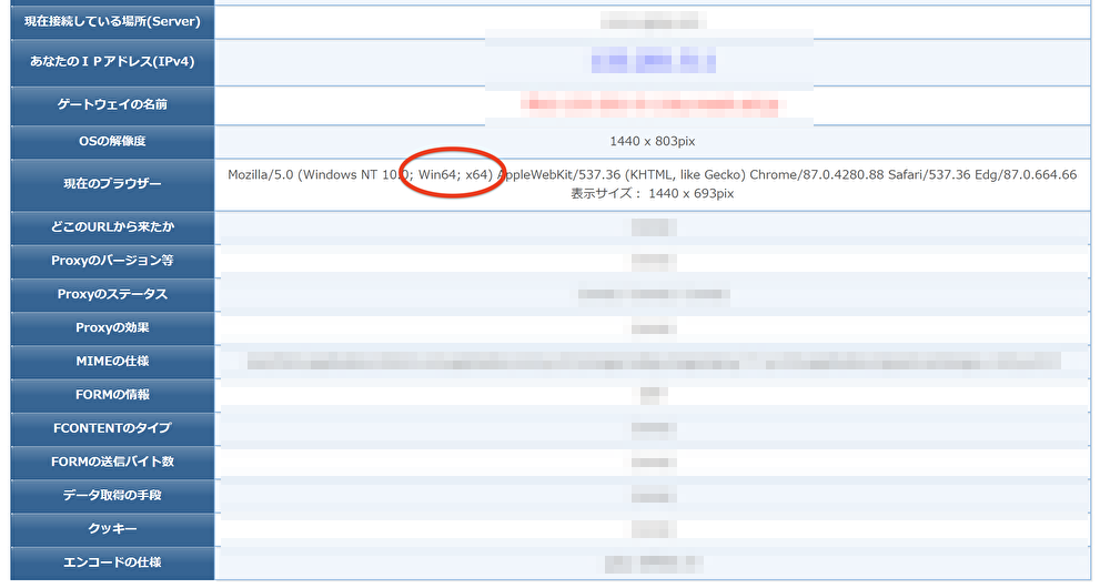Javaの32bitと64bitを確認するには?