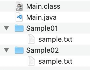 複数ファイルをZIP圧縮するフォルダ構成